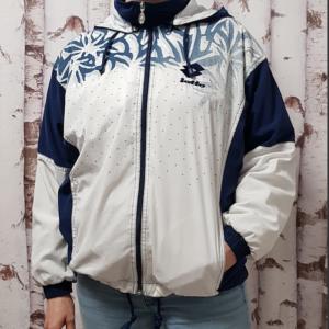 Vintage Sportjacke blau-weiß