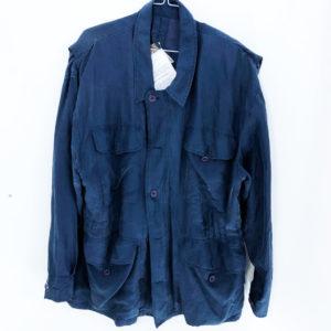 Vintage Blouson mit Knöpfen dunkelblau