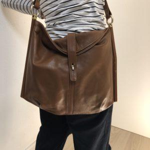 Vintage Handtasche mit Holzeinsatz
