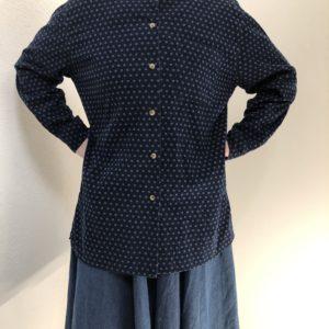 Vintage Cordhemd dunkelblau