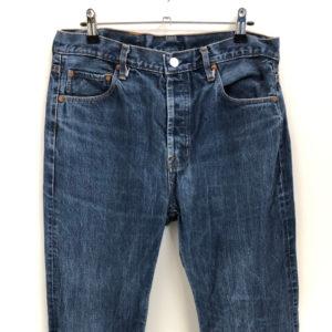Vintage Jeans Kegelrobbe 501 W34 L34 blau