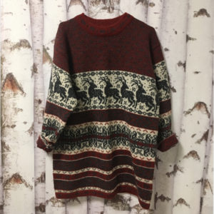 Vintage Pullover weinrot